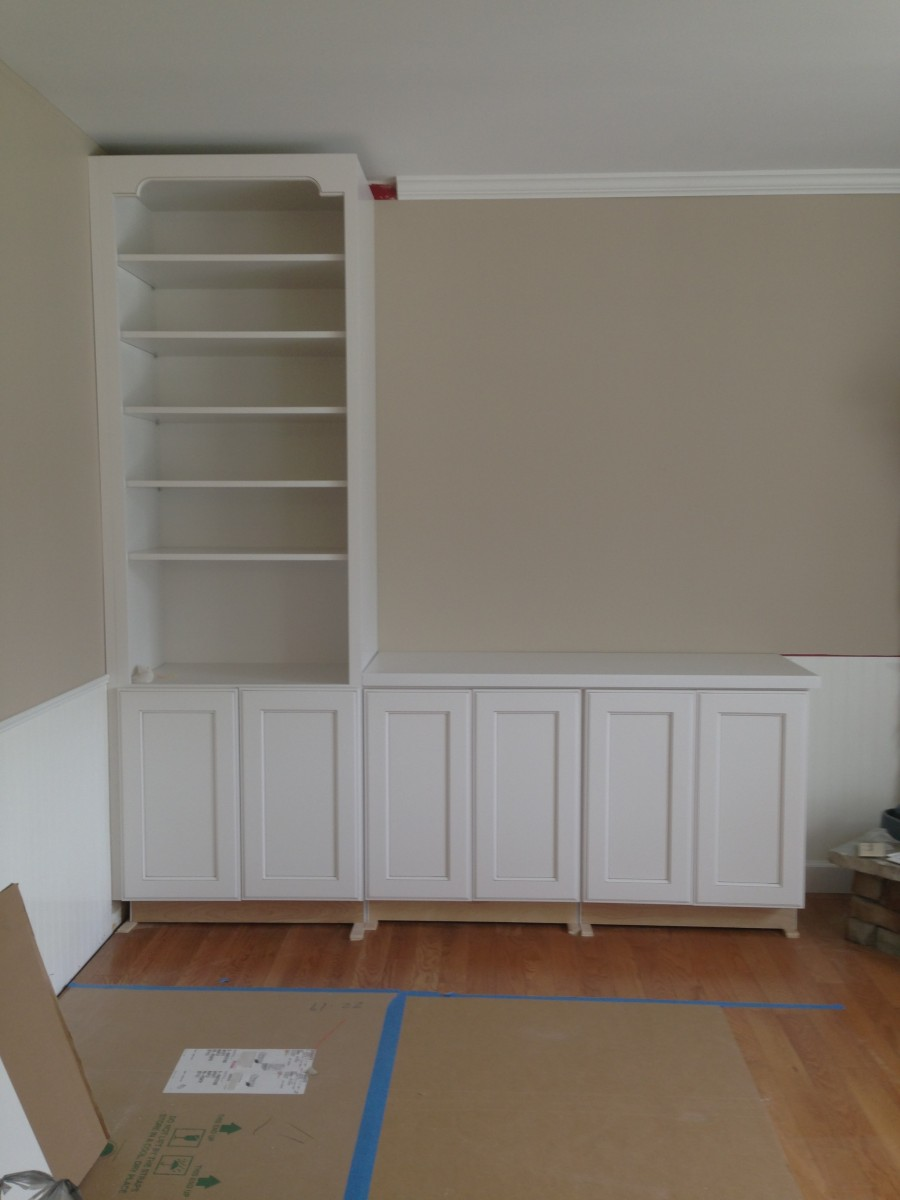 wilmington kitchen, family room & laundry room - cabinet Installing Cabinets in Laundry Room