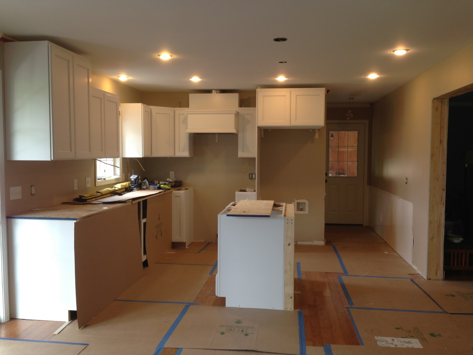 Wilmington Kitchen, Family Room & Laundry Room  Cabinet Installation