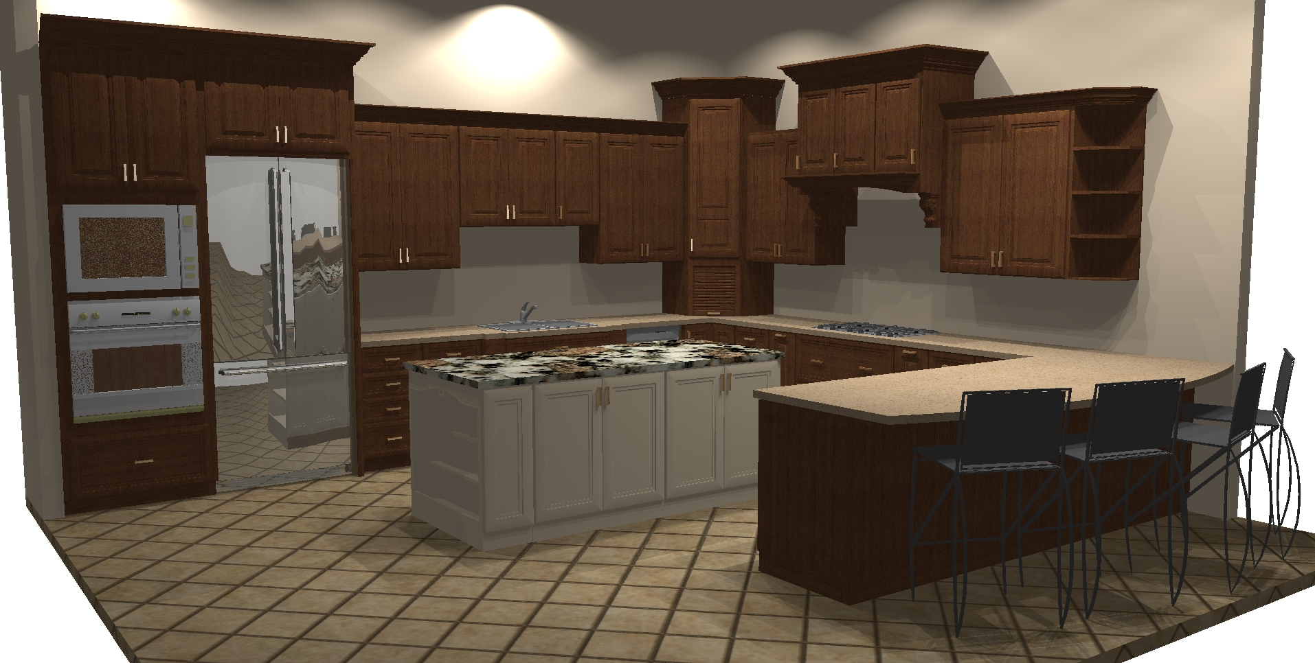 Showroom Kitchen Rendering Benner Rd